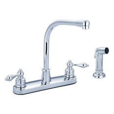 Banner High Arch Spout Kitchen Faucet With Side Spray, Chrome