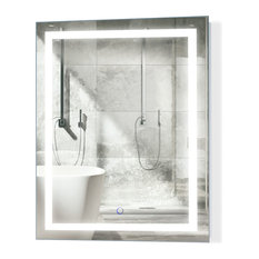 """LED Lighted Bathroom Mirror With Defogger and Dimmer, 24""""x30"""""""