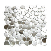 River Rock Pattern Mosaic Stainless Steel Tile, Sample