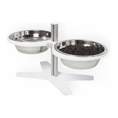 """Ergonomic Modern Pet Feeder for Dogs and Cats, 8"""""""