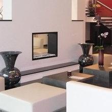 Schöner Wohnen mit einem Raumteiler Kamin