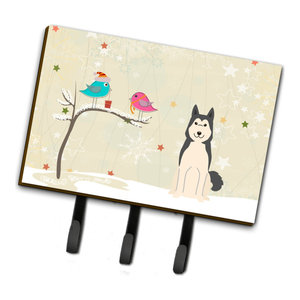 West Siberian Laika Spitz Welcome Leash Key Holder Contemporary Wall Hooks By The Store