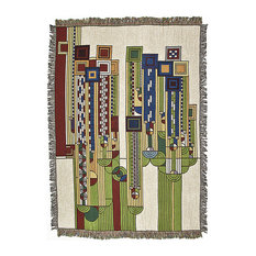 Frank Lloyd Wright Collection - Frank Lloyd Wright Saguaro Tapestry Throw - Throws