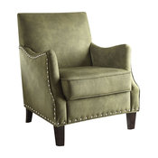 Acme Sinai Accent Chair, Olive Fabric