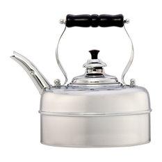 Simplex Kettles by Newey & Bloomer - Simplex Kensington Whistling Tea Kettle, Chrome - Kettles