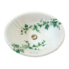 English Ivy Hand Painted Sink