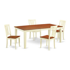 5-Piece Table And Chair Set For 4 Table And 4 Chairs Buttermilk/Cherry