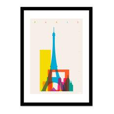 """Shapes of Paris"" Framed Giclee Art Print, 16""x20"""