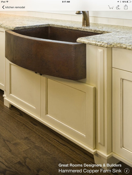 drop in or undercount for farmhouse sink. Black Bedroom Furniture Sets. Home Design Ideas