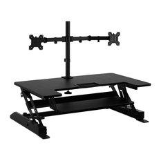 "Mount-It! Standing Desk Converter With Bonus Dual Monitor Mount, 36""Platform"