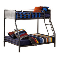 Hillsdale Furniture - Hillsdale Urban Quarters Twin over Full Bunk Bed, Black Steel - Bunk Beds
