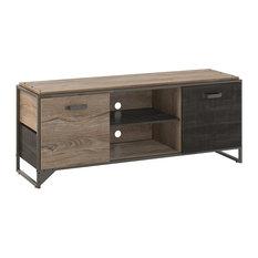 "Bush Furniture Refinery 60""W TV Stand for 65"" TV, Rustic Gray"