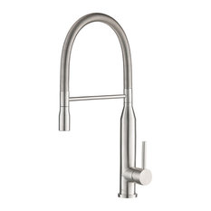 Isenberg K.1260 Glatt Stainless Steel Kitchen Faucet With Pull Down