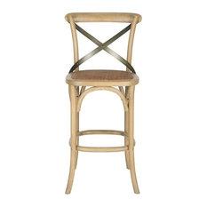 safavieh safavieh eleanor oak wood barstool weathered oak bar stools and counter stools
