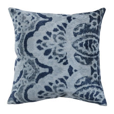 "Orville Printed 20"" Throw Pillow, Gray by Kosas Home"