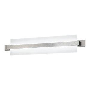 """Reflection LED Wall Light, Brushed Aluminum, 29"""""""