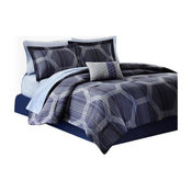 Madison Park Microfiber Printed 7-Piece Comforter Set, King