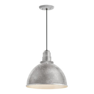 """Troy RLM Lighting RS16M-BC  Standard 16/"""" Wide Single Light Outdoor Pendant with"""