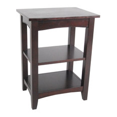 Bolton Furniture, Inc.   Shaker Cottage 2 Shelf End Table, Espresso