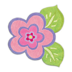 Rug Market Kids My Pretty Flower, Pink/Purple, 4x4 Round
