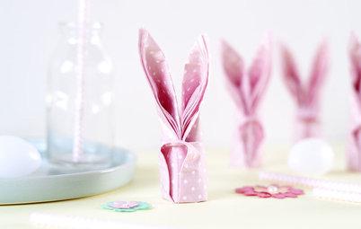 Fai da Te di Pasqua: Tovaglioli a Forma di Coniglietto