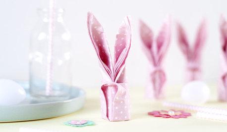 DIY : Apprenez à plier vos serviettes en forme de lapins pour Pâques