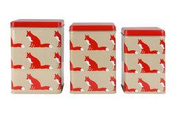 Proud Fox Nesting Tins
