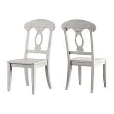 Arbor Hill Napoleon Back Wood Dining Chair, Set of 2, Antique White