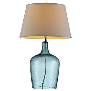 "27""H Ocean Breeze Glass Table Lamp"
