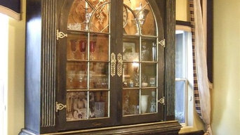 Custom Reclaimed Arch Window Cabinetry