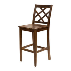 GDF Studio Scottsman Brown Wood Counter Stools Set Of 2