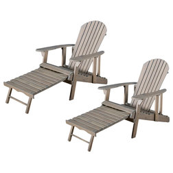Rustic Adirondack Chairs by GDFStudio