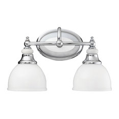 Pocelona 2 Light Bathroom Vanity Light in Chrome