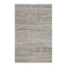 Safavieh Cape Cod Collection CAP353 Rug, Natural/Blue, 3'x5'