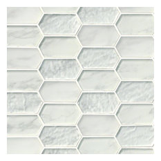 Calypso Picket Pattern Crystallized Glass Mosaic Tiles, 10 Pieces