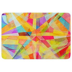 17 by 24 Kess InHouse Danny Ivan The Optimist Geometric Multicolor Memory Foam Bath Mat