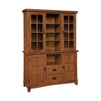 Display Cabinet With Solids Rubberwood And Black Cherry