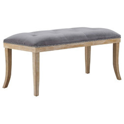 Transitional Upholstered Benches by Homesquare