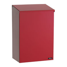 QualArc Allux 100 Top Loading Wall Mount Mailbox - Red