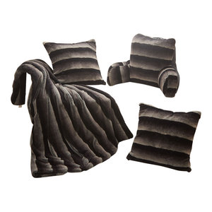 Quilted Micro Mink Pillow Shell Set