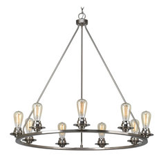 Luxury Industrial Chic Chandelier, Nashville Series, Brushed Nickel