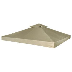 vidaXL Waterproof Gazebo Canopy, 3x3m, Beige