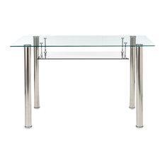 Sleek Glass and Chrome Desk