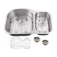 """Undermount 31.5"""" 70/30 Bowl Eurostyle 16-Gauge Stainless Steel Kitchen Sink"""