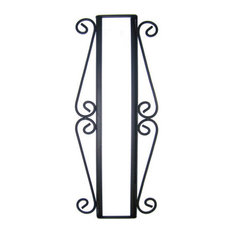 Wrought Iron Vertical House Number Frame Hacienda 4