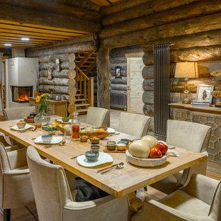 Свежая идея для дизайна: столовая в стиле рустика - отличное фото интерьера