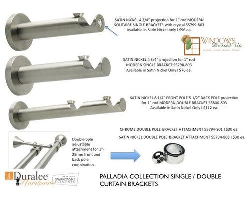 Curtains Ideas curtain rod accessories : SWAROVSKI Crystals I Palladia Finials I Curtain Rods I Brackets I ...