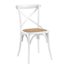 Wood Dining Side Chair in White - Set of 4