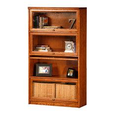Promo 4-Door Lawyer Bookcase Aqua Oak