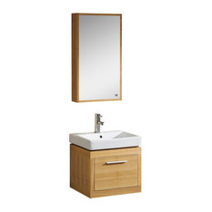 Fine Fixtures Glamour Collection Vanity, Light Maple